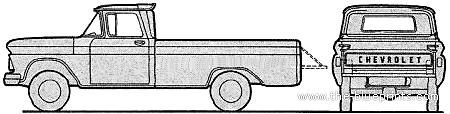 Chevrolet K14 Pick-up Fleetside 4x4 (1962)