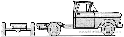 Chevrolet K25 Pick-up Cab Chassis 4x4 (1962)
