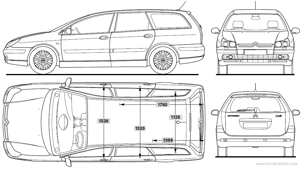 Blueprints Gt Cars Gt Citroen Gt Citroen C5 Break 2007