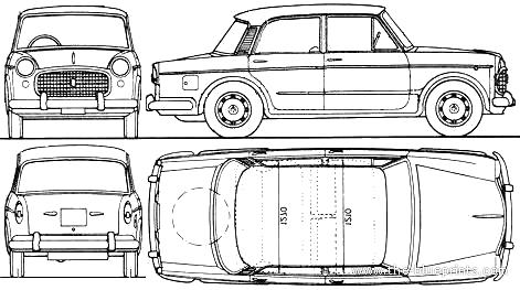 Fiat 1100D Millecento (1962)