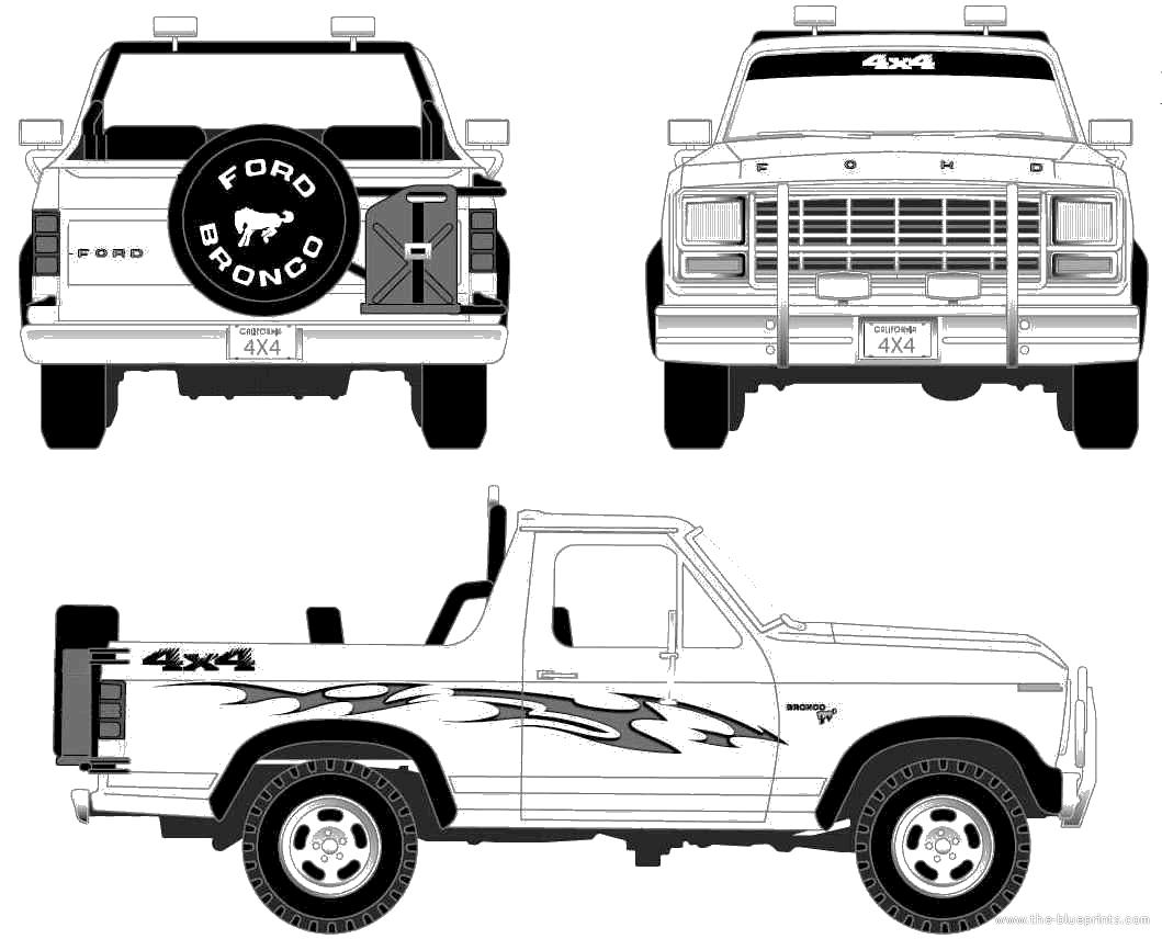 Blueprints Gt Cars Gt Ford Gt Ford Bronco 1980