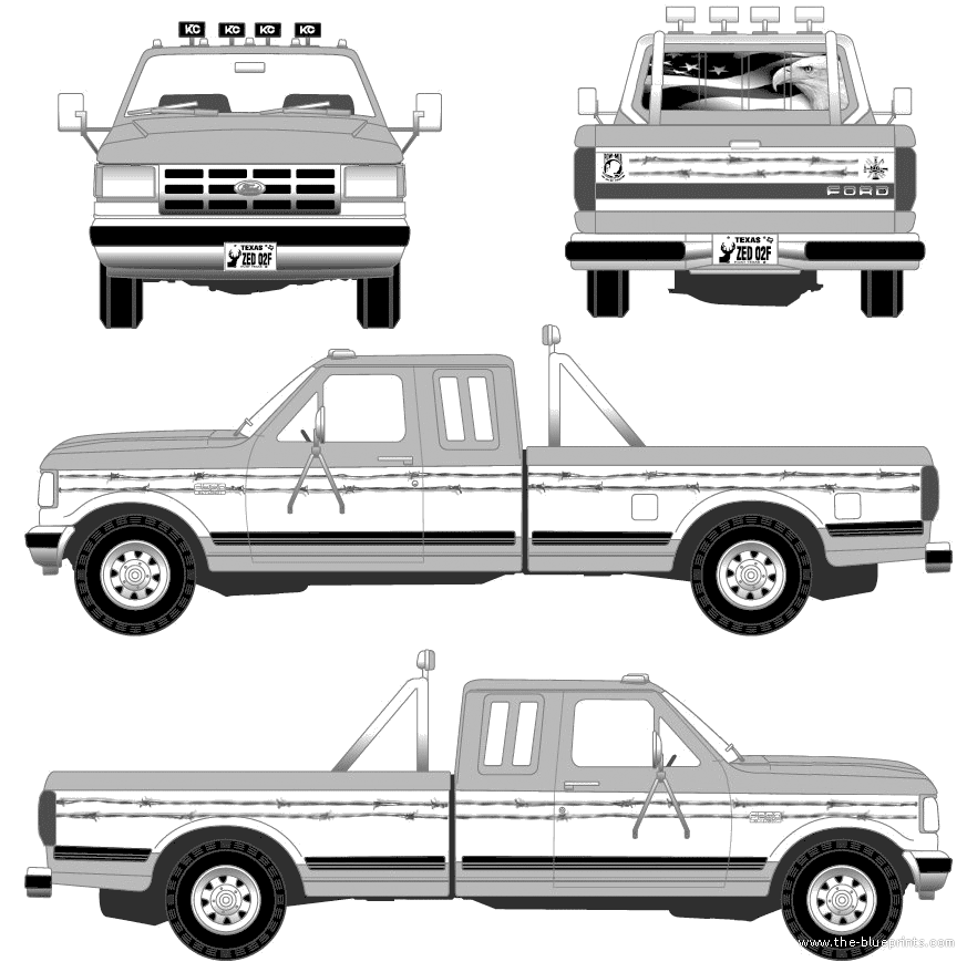 F250 Bumper Blueprints : Blueprints gt cars ford f super duty pick up