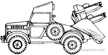 GAZ-69 2P26 3M6 Shmel (AT-1 Snapper)