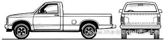 GMC S-15 Regular Cab LWB Pick-up (1984)