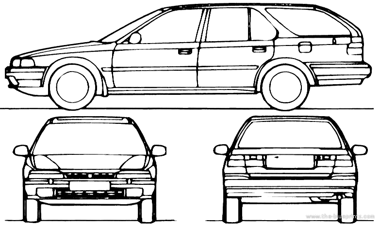 blueprints  u0026gt  cars  u0026gt  honda  u0026gt  honda accord aerodeck  1991
