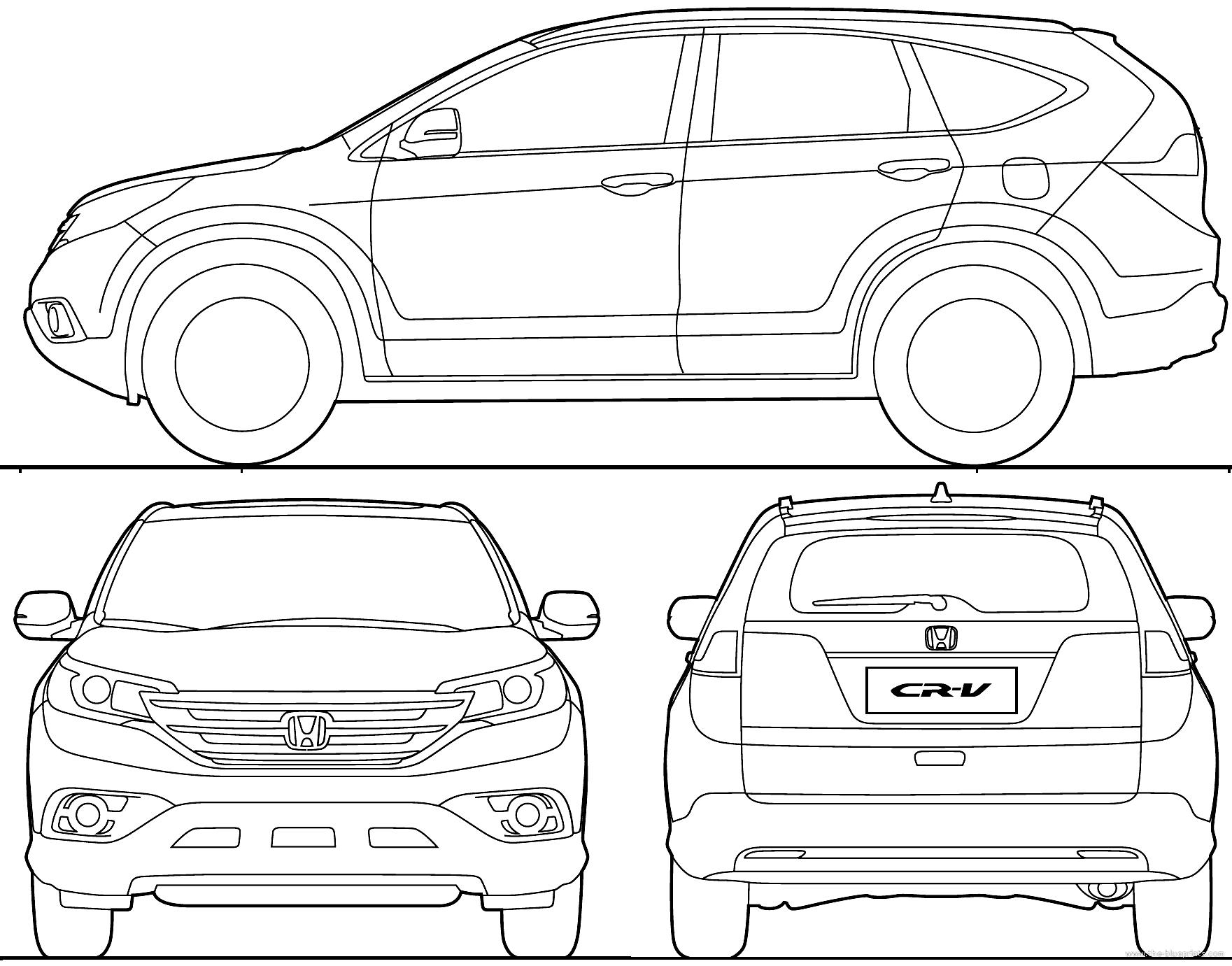 The-Blueprints.com - Blueprints > Cars > Honda > Honda CR ...