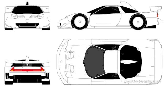 blueprints cars honda honda nsx gt