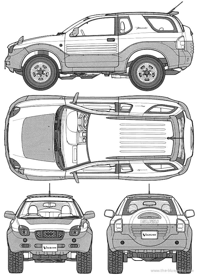 Blueprints > Cars > Isuzu > Isuzu Vehicross