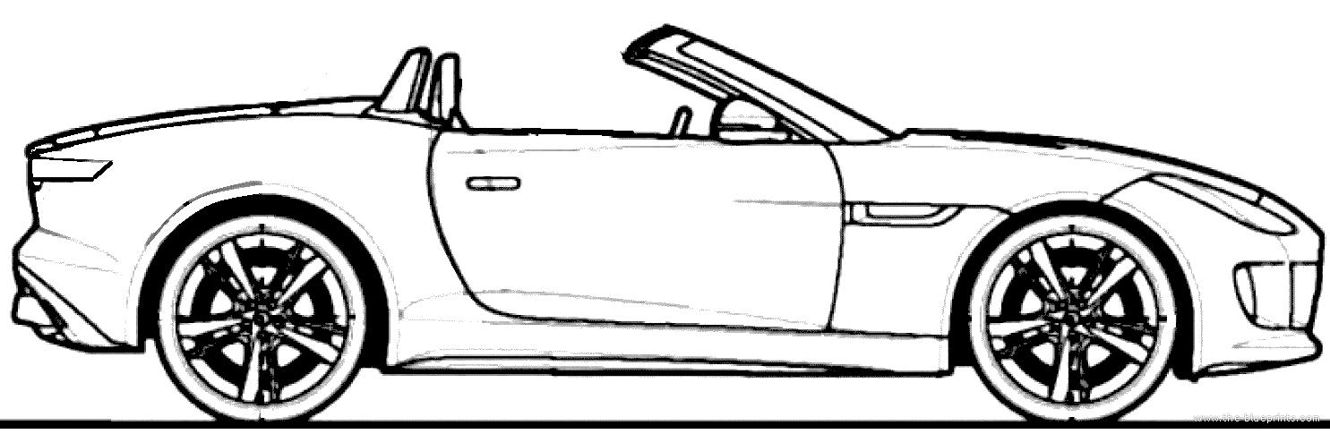 Line Drawing Jaguar : Blueprints gt cars jaguar f type