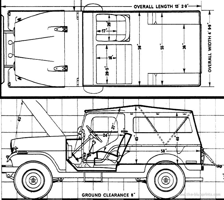 Cj Scribble Drawing : The blueprints gt cars jeep cj