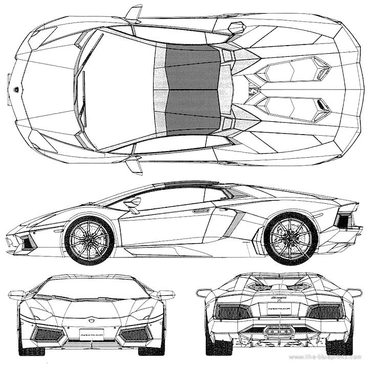 Blueprints > Cars > Lamborghini > Lamborghini Aventador