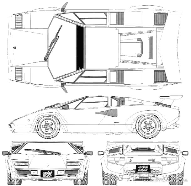 Blueprints Gt Cars Gt Lamborghini Gt Lamborghini Countach 5000qv
