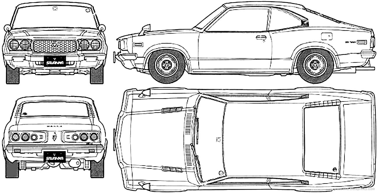 blueprints  u0026gt  cars  u0026gt  mazda  u0026gt  mazda rx3 savanna gt  1971