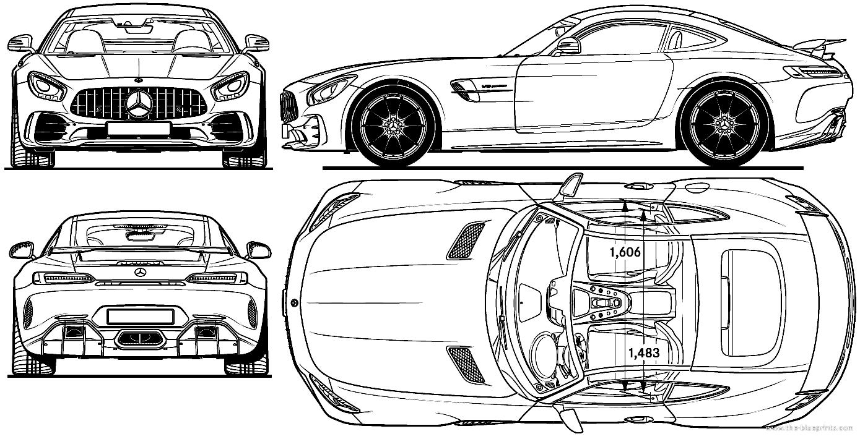 Blueprints Gt Cars Gt Mercedes Benz Gt Mercedes Amg Gt R 2017