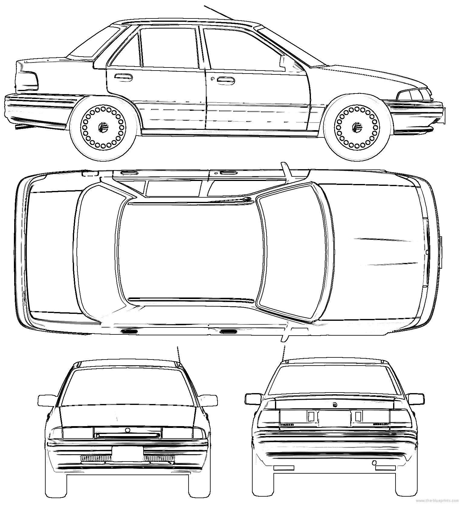 1994 Mercury Tracer Camshaft: Blueprints > Cars > Mercury > Mercury
