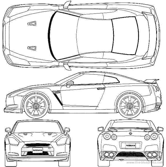 Blueprints > Cars > Nissan > Nissan GT-R R35 (2008