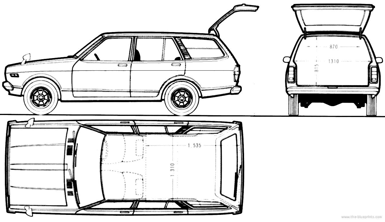 blueprints  u0026gt  cars  u0026gt  nissan  u0026gt  nissan sunny b310 van 4