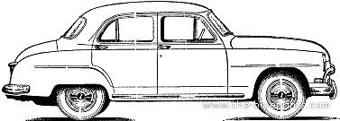 Simca Aronde 90A 4-Door (1954)