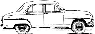 Simca Aronde 90A 4-Door DeLuxe (1956)