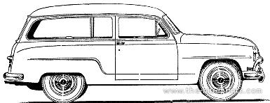 Simca Aronde 90A Commerciale (1954)