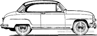Simca Aronde 90A Grand Large 2-Door Hardtop (1954)