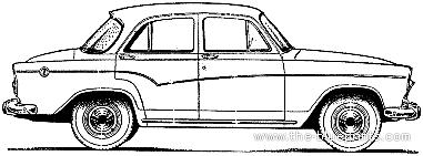 Simca Aronde P60 Etoile 4-Door (1960)