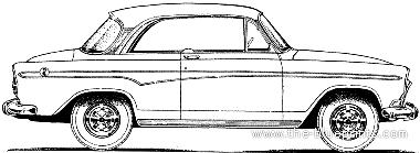Simca Aronde P60 Monaco 2-Door Hardtop (1960)