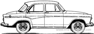 Simca Aronde P60 Montlhery 4-Door (1960)