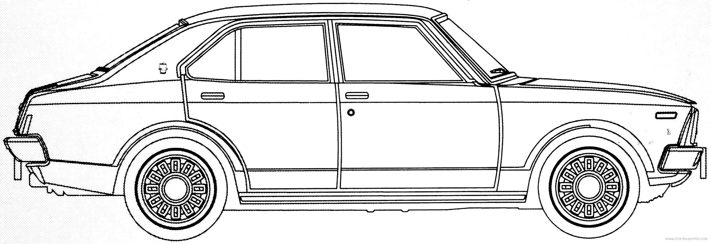 Blueprints Gt Cars Gt Toyota Gt Toyota Carina 1400 Dx 1973