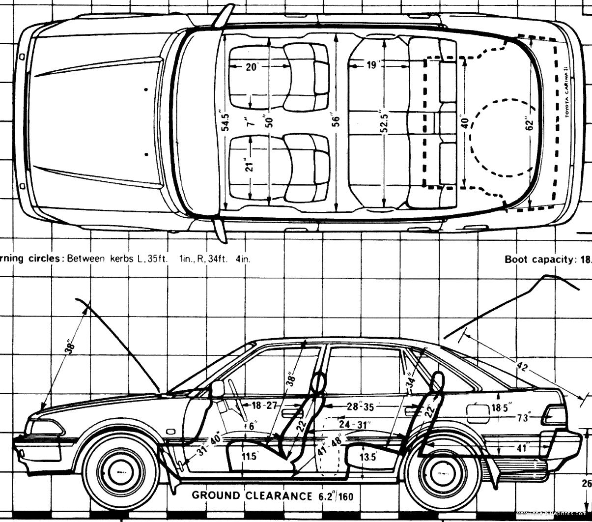 Blueprints Gt Cars Gt Toyota Gt Toyota Carina Ii 1 6 Gl