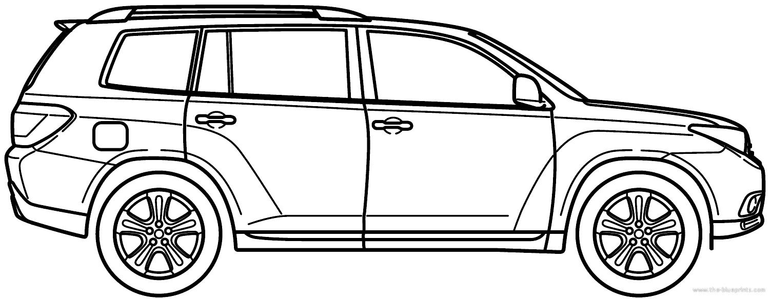 Blueprints Gt Cars Gt Toyota Gt Toyota Highlander 2013