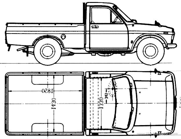 Free Hilux Blueprints: Blueprints > Cars > Toyota > Toyota Hilux (1968