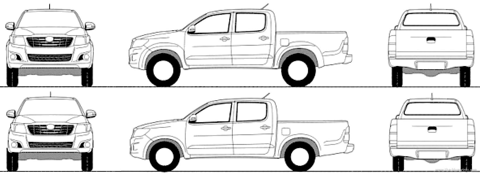 Free Hilux Blueprints: Blueprints > Cars > Toyota > Toyota Hilux (2015