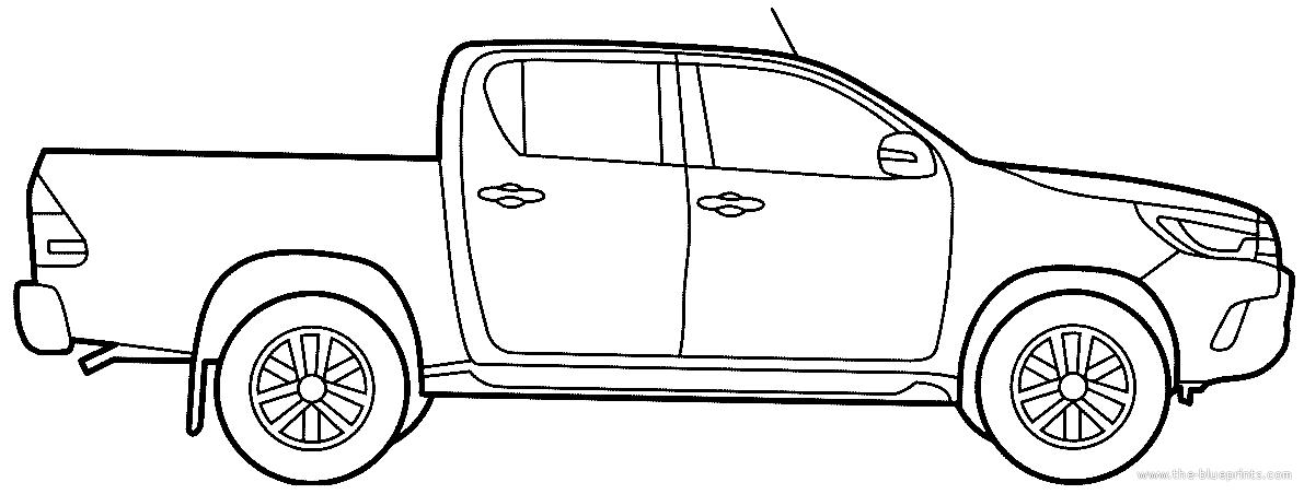 Free Hilux Blueprints: Blueprints > Cars > Toyota > Toyota Hilux (2016