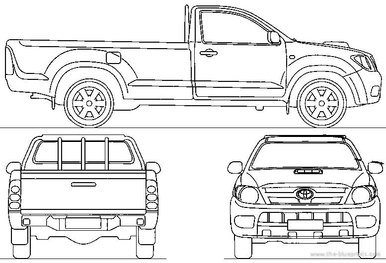 Free Hilux Blueprints: Blueprints > Cars > Toyota > Toyota Hilux Single Cab (2006