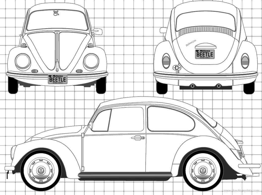 Blueprints Gt Cars Gt Volkswagen Gt Volkswagen Beetle 1200 1968