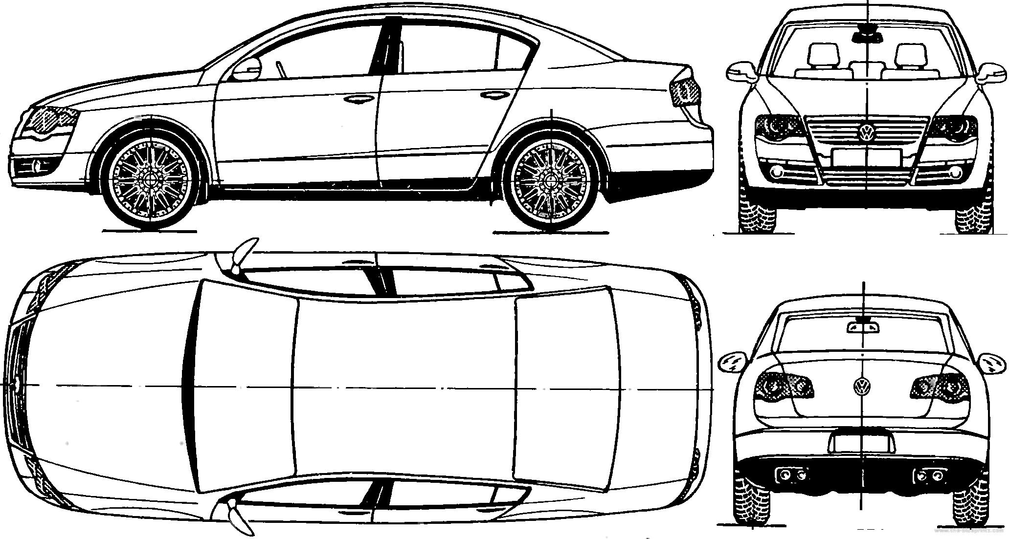 Blueprints Gt Cars Gt Volkswagen Gt Volkswagen Passat 2005