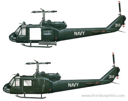 Bell 204 UH-1C Gunship