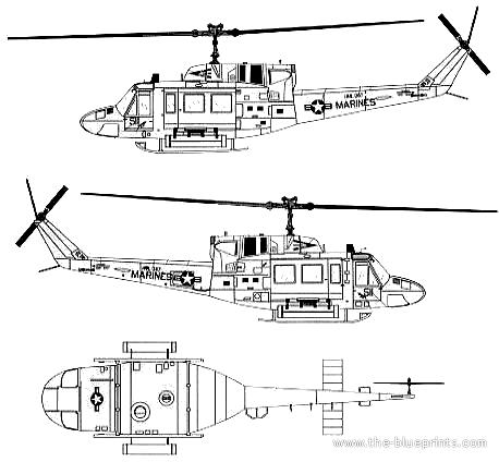 Bell 205 UH-1N Huey Gunship