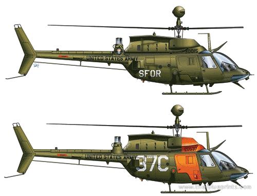 Bell 206 OH-58D Kiowa