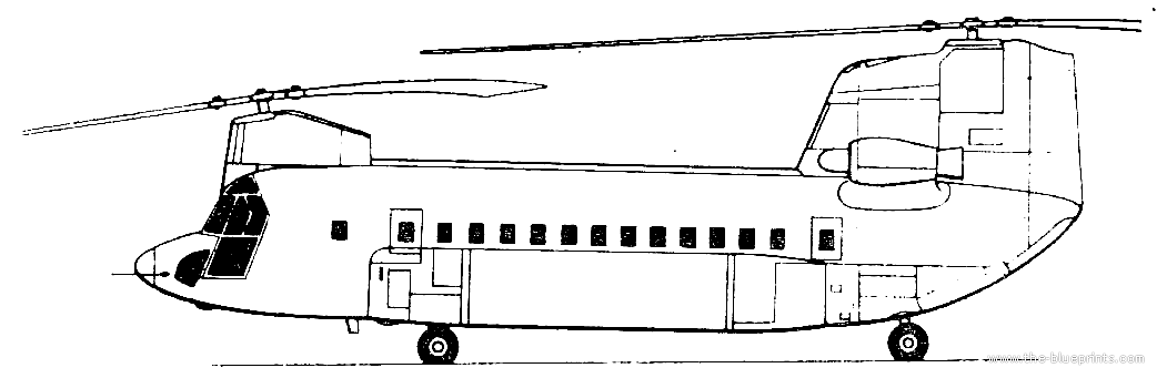 Line Drawing Helicopter : Blueprints gt helicopters boeing vertol ch