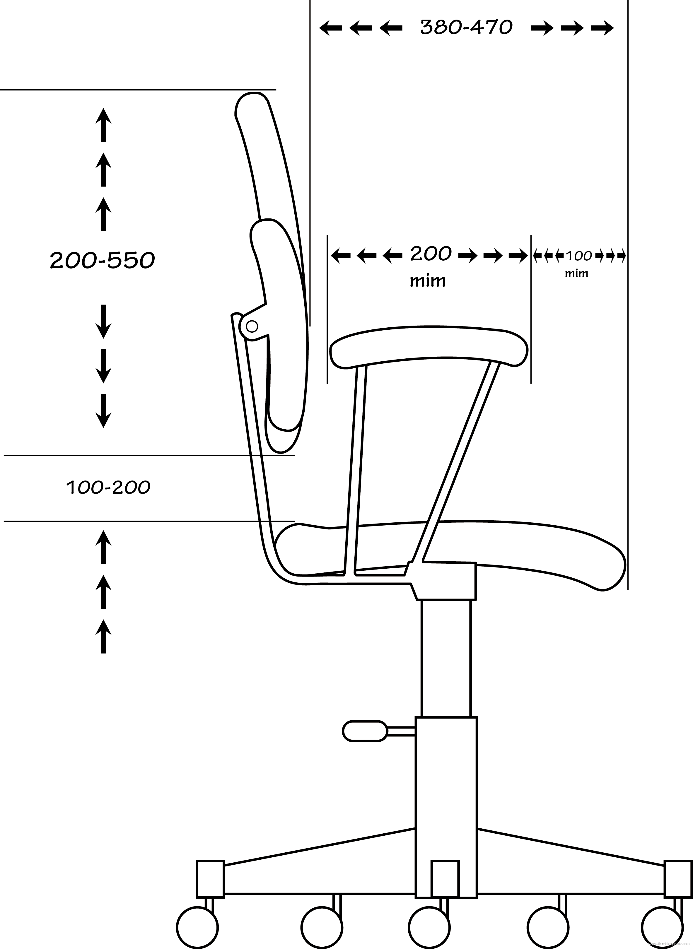 Blueprints Gt Miscellaneous Gt Other Gt Office Chair Side