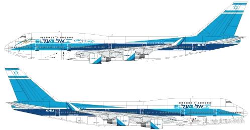 Blueprints Gt Modern Airplanes Gt Boeing Gt Boeing 747 458