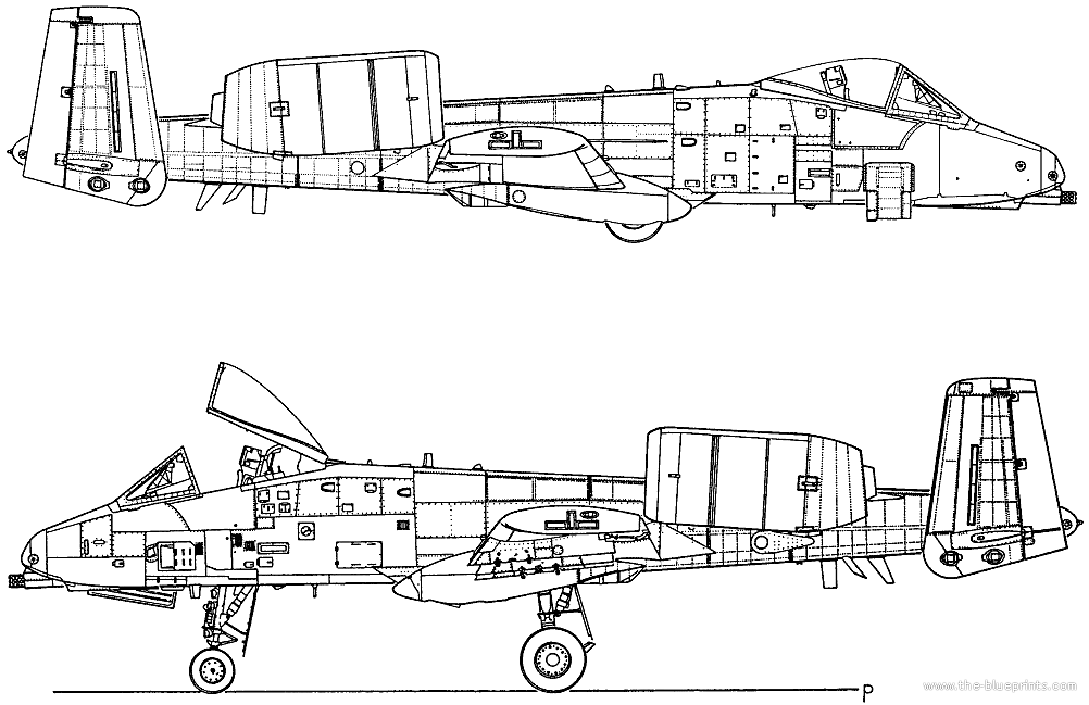 A 10 Thunderbolt Drawing The-Blueprints.com - B...