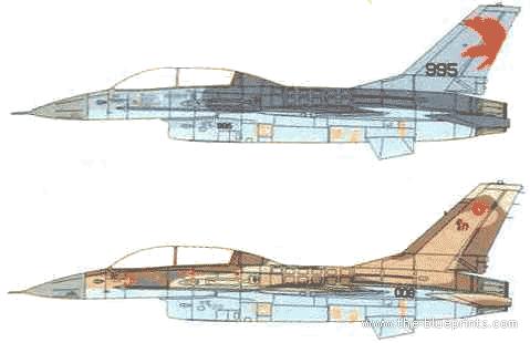 General Dynamics F-16B Barak