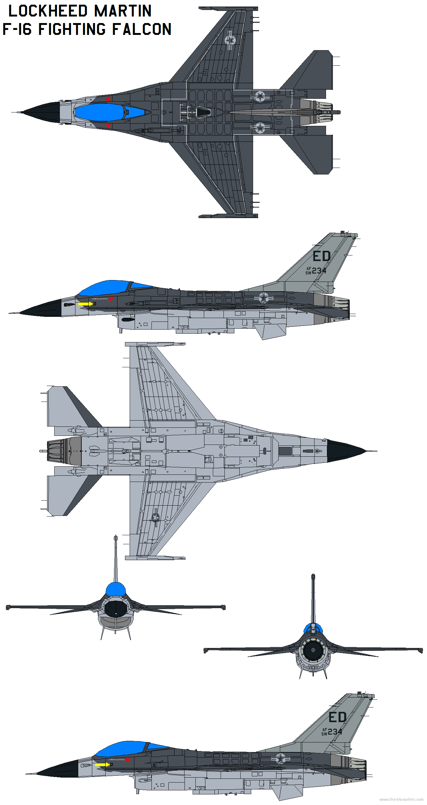Submit Vat Online >> Blueprints > Modern airplanes > Lockheed > Lockheed Martin F-16 Fighting Falcon