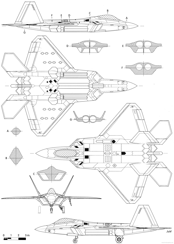 Blueprints > Modern...F 22 Drawing