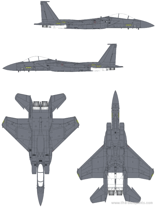 Submit Vat Online >> Blueprints > Modern airplanes > McDonnell Douglas > McDonnell Douglas F-15E Strike Eagle