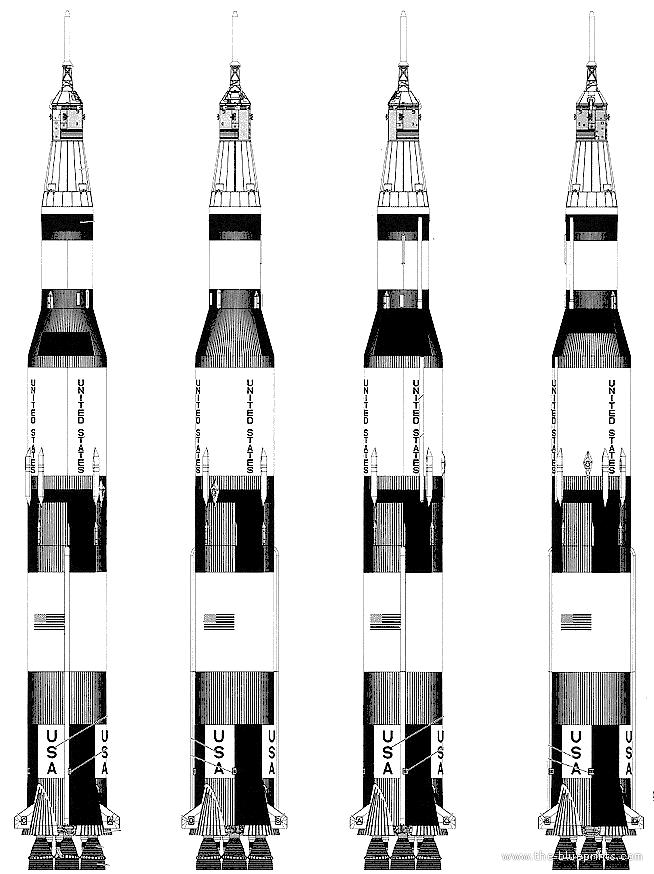 Submit Vat Online >> Blueprints > Modern airplanes > Modern Sa-St > Saturn V Apollo 11