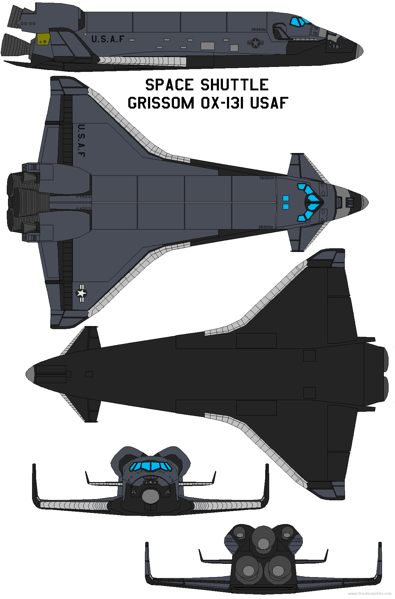 Submit Vat Online >> Blueprints > Modern airplanes > Modern Sa-St > Space shuttle Grissom OX-131 USAF